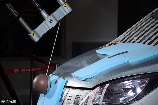 比亚迪宋安全碰撞;比亚迪检测中心